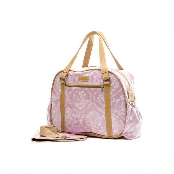 Nappy Bag With Changing Mat - Pink - Mirelle Leather and Lifestyle