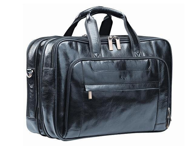 Nevada Genuine Leather Laptop Bag - Black - Mirelle Leather & Lifestyle