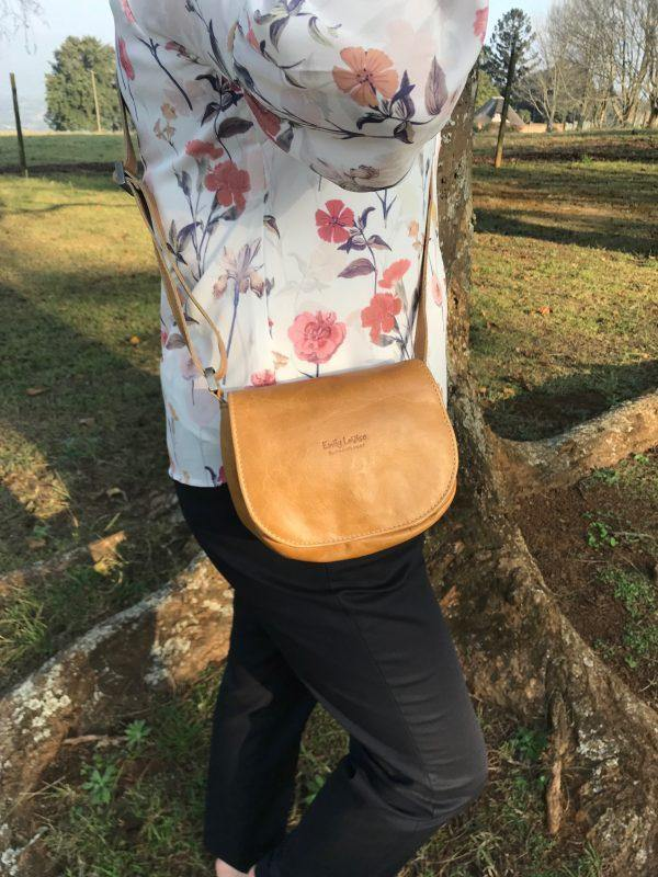 Priscilla Sling Bag - Hazelnut - Mirelle Leather & Lifestyle