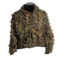 Hunting Ghillie Suit 3D Camo Bionic Leaf Linen Hunting Clothes Camouflage Jungle Woodland Birdwatching Poncho Hunting Clothing - handiestthings.com