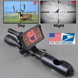 Night Vision Riflescope Hunting Scopes Optics Sight Tactical 850nm Infrared LED IR Waterproof Night Vision Hunting Camera - handiestthings.com