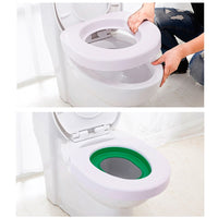 idYllife Cat training Toilet Seat Pet Plastic litter Box Tray Kit Professional Trainer Clean Kitten Healthy Cats Human Toilet - handiestthings.com