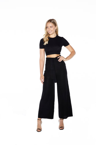 Belted Knit Pant