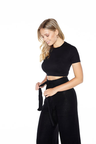 Crew Neck Crop Top