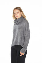 Load image into Gallery viewer, Cut Out Cowl Neck Sweater