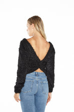 Load image into Gallery viewer, Twist Back Fuzzy Sweater
