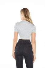 Load image into Gallery viewer, Crew Neck Crop Top