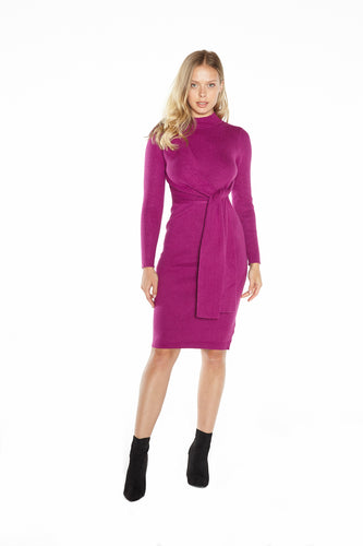 Front Tie Sweater Dress