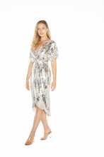 Load image into Gallery viewer, Paloma Metallic Midi Dress