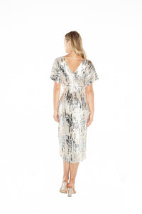 Paloma Metallic Midi Dress