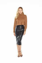 Load image into Gallery viewer, Camel Cropped Sweater