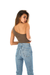 One Shoulder Cropped Top