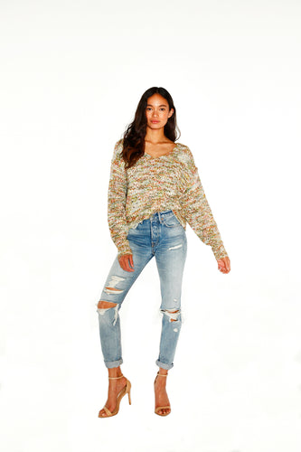 Open Weave Multi Sweater