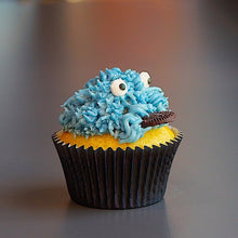 Load image into Gallery viewer, Blue Cookie Monster Cupcake