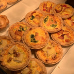 Bacon, Tomato and Mozarella Quiche