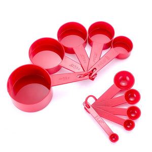 10pcs Measuring Cups And Measuring Spoon