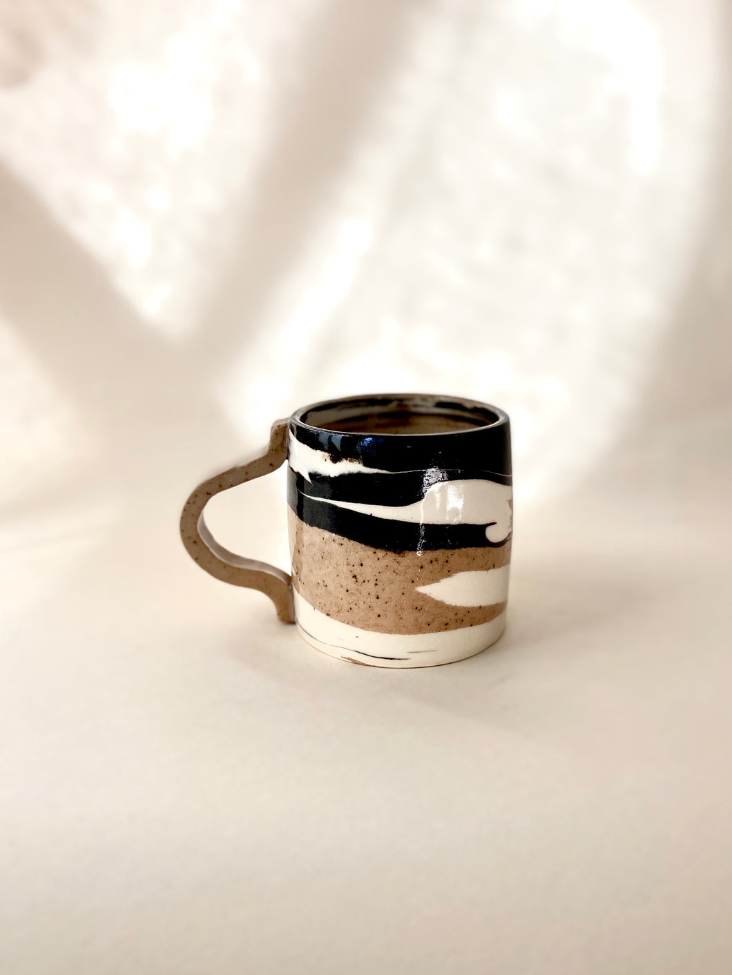 Three Clay Marble Mug (glossy)