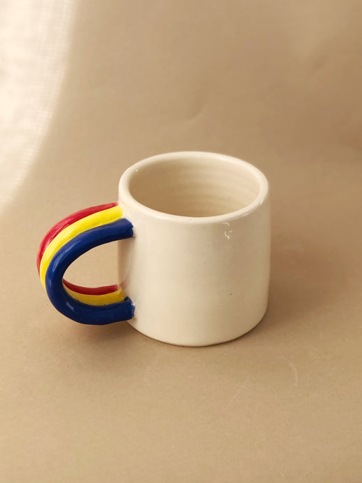 Rainbow Handled Mug