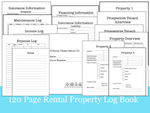 120 Page Rental Property Management Book
