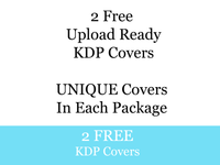 2 Free KDP Upload Ready Unique Covers