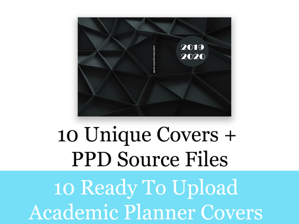 Academic Planner 10 Unique Covers + PPD Source File