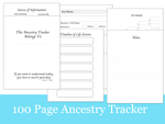100 Page Ancestry Tracker