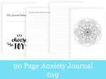 90 Page Anxiety Journal/Adult Coloring Book/Positive Affirmation Journal