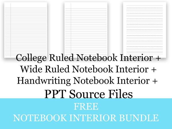 College Ruled, Wide Ruled, and Handwriting Paper Bundle