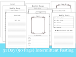 31 Day Intermittent Fasting Tracker