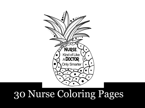 8.5x11, 30 Nurses Niche Coloring Pages