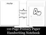 110 Page Handwriting Notebook
