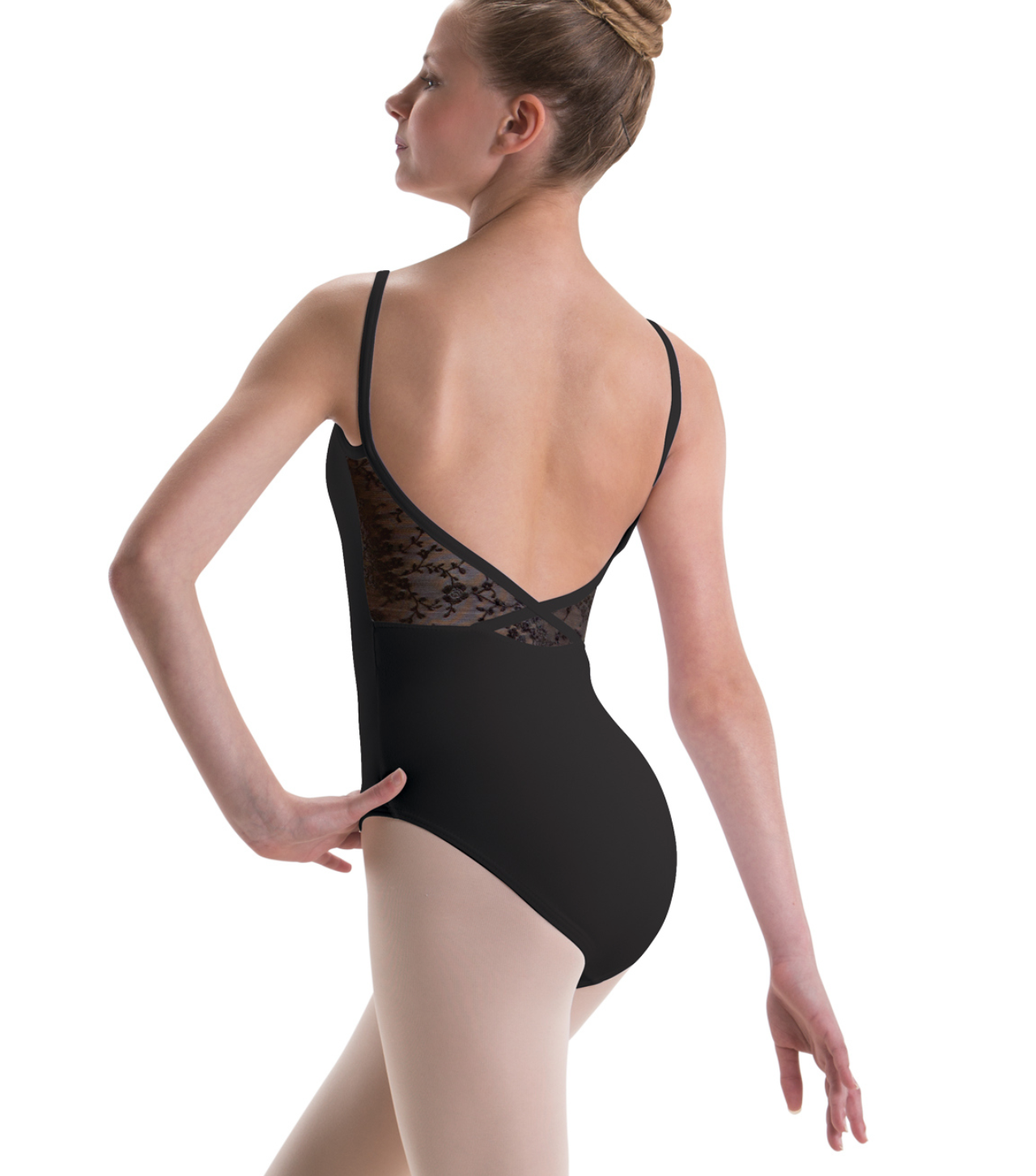 Motionwear Patterned Mesh Back Camisole Leotard - 2530