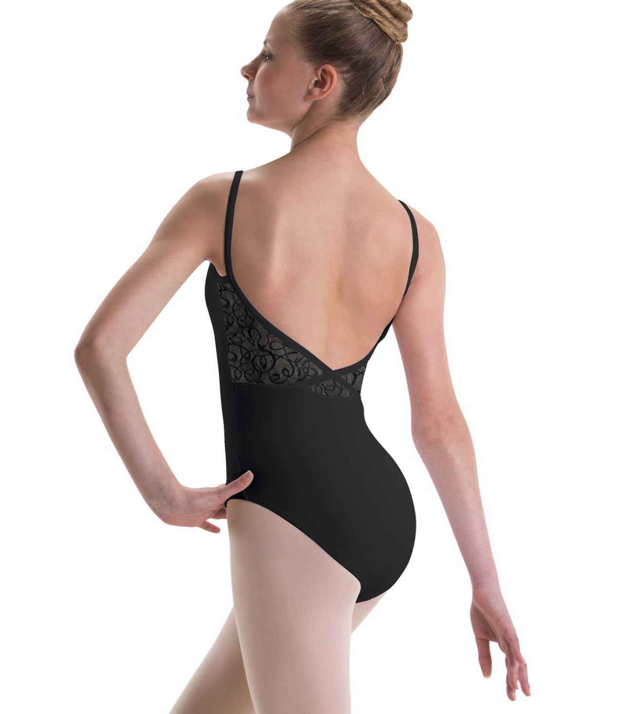 Motionwear Camisole Leotard with Elegant Lace Mesh - 2530