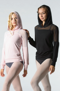 Ballet Rosa Akane Bamboo and Mesh Hoodie Top
