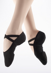 So Danca Black Canvas Ballet Slipper - SD16