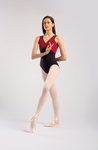 So Danca Laura Leotard with Black Velvet Bodice - RDE1846