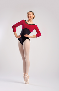 So Danca Long Sleeve Leotard with Velvet Bodice - RDE1847