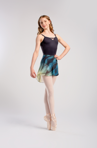 So Danca Print Crepe Wrap Skirt - RDE1726