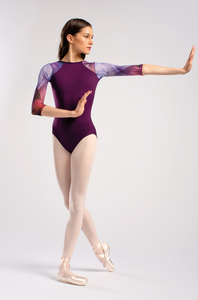 So Danca Sabina Mesh Sleeve Leotard - RDE1852