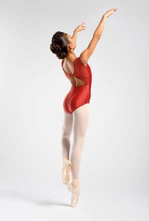 So Danca Tank Leotard with Lace Mesh Back - L1599
