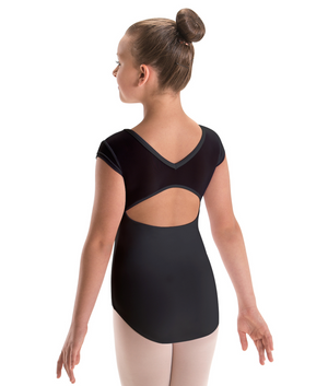 Motionwear Mesh Cap Sleeve Leotard - 2259