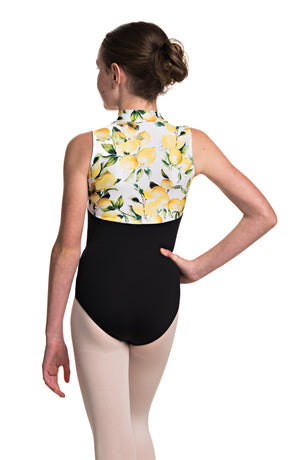 Ainsliewear Girls Haley Leotard with Limoncello Print - AW1064LCG