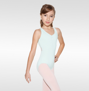 So Danca Girls Cross Back Tank with Mesh Detail - L1545