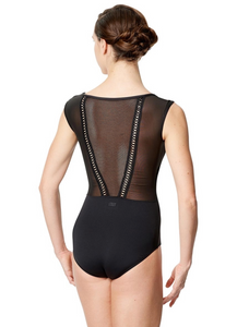Lulli Dancewear Cap Sleeve Leotard with Mesh Detail Back - LUF593