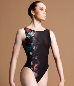 Motionwear Tank Leotard with Floral Print - 4101