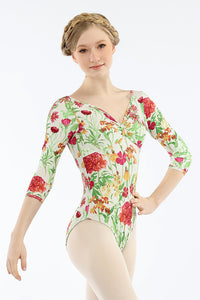 Audition Dancewear Girls Long Sleeve Leotard - Helen