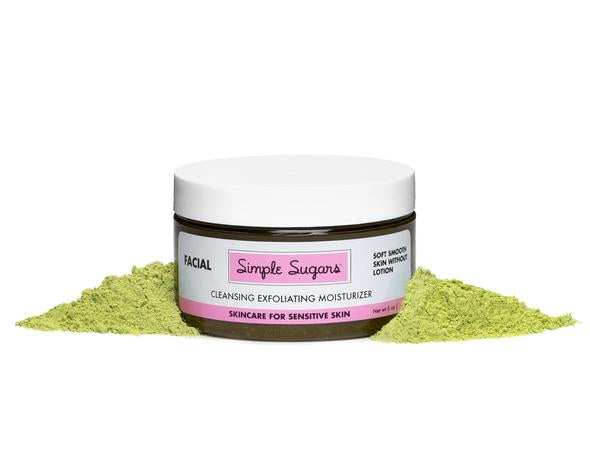 Simple Sugars Green Tea Facial Skincare w/Emu Oil