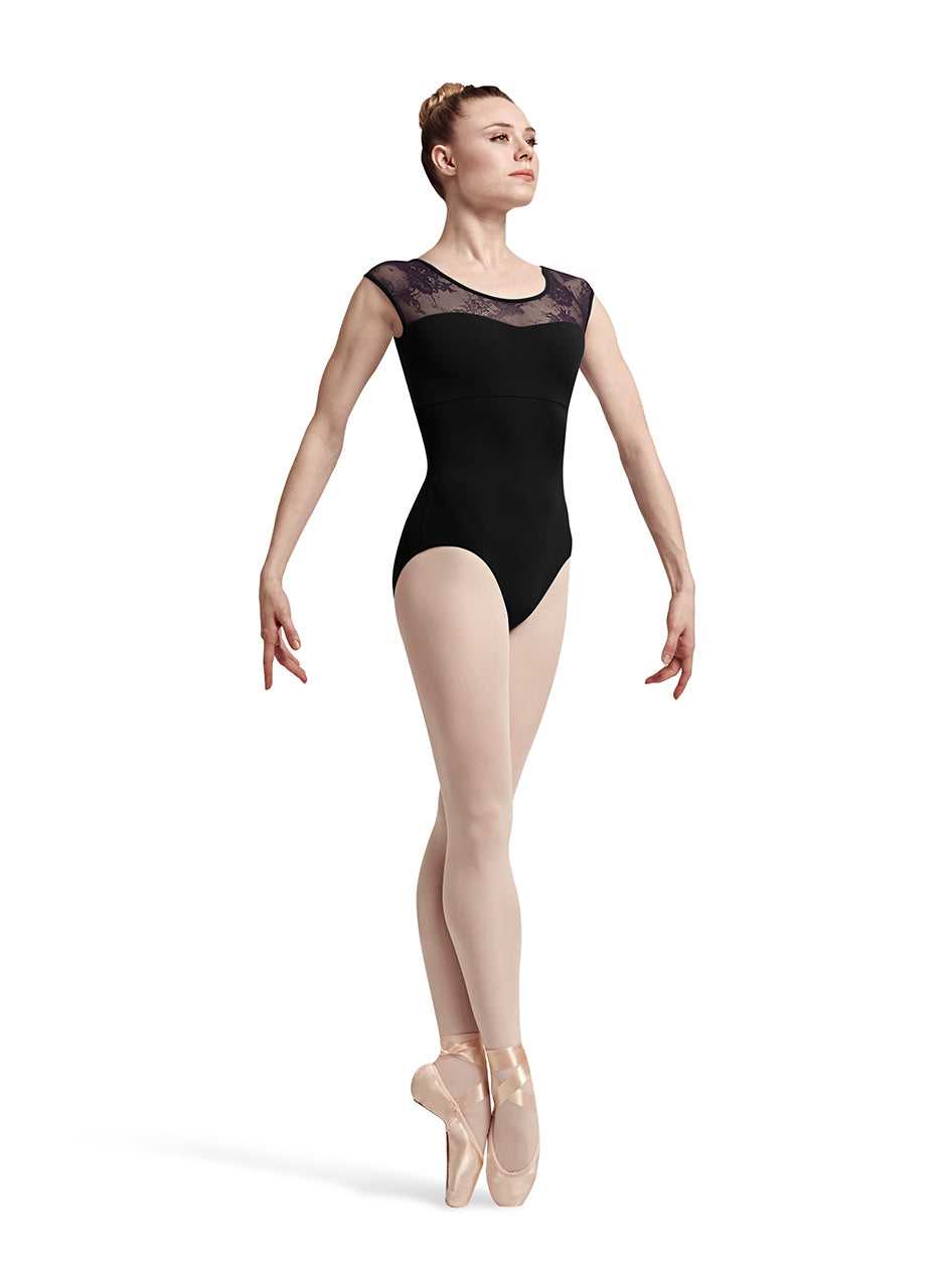 Bloch Cap Sleeve Leotard with Lace Accents - L7714