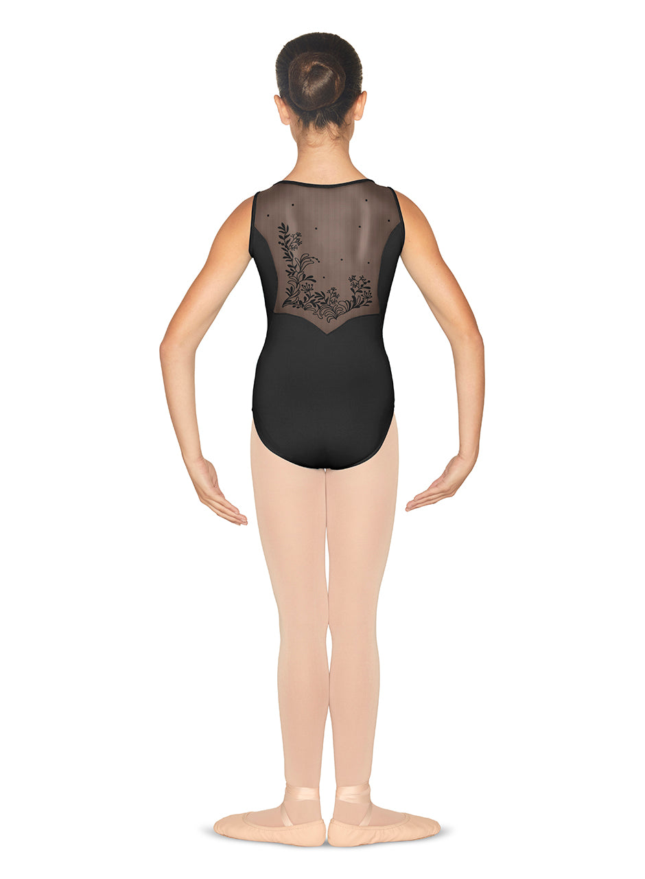 Bloch Girls Mesh Back Tank Leotard - CL5565