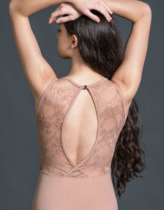 Suffolk Boat Neck Leotard with Lace Back - 2185A